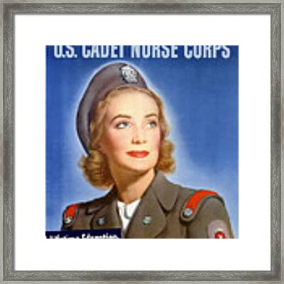 Enlist In A Proud Profession - Join The Us Cadet Nurse Corps Framed Print