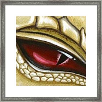 Eye Of Gold Dust Framed Print