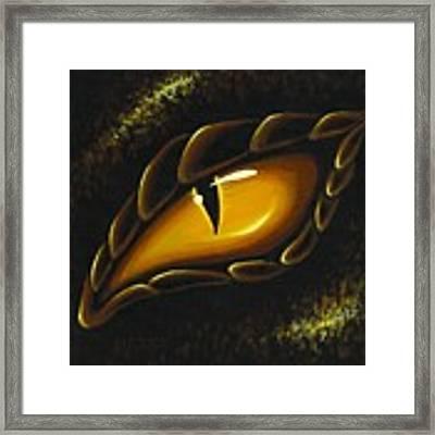 Eye Of Golden Embers Framed Print