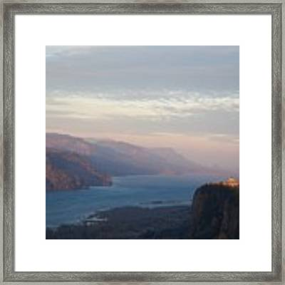 Faint Vista Light Framed Print by Dylan Punke