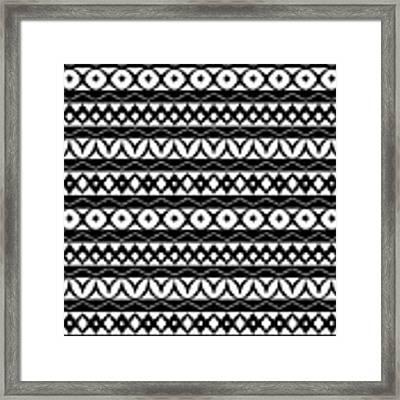 Fair Isle Black And White Framed Print