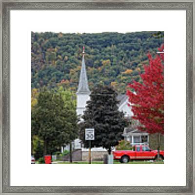Fall At South Baker Street Winona Minn Framed Print by Kari Yearous