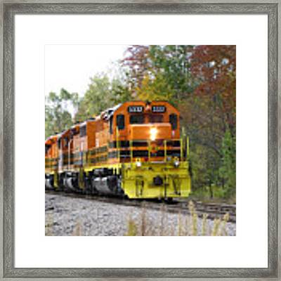 Fall Train In Color Framed Print by Rick Morgan