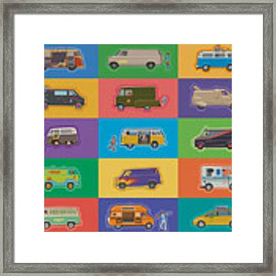 Famous Vans Framed Print by Mitch Frey