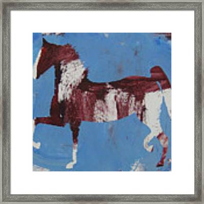 Fancy Trotter Framed Print by Candace Shrope