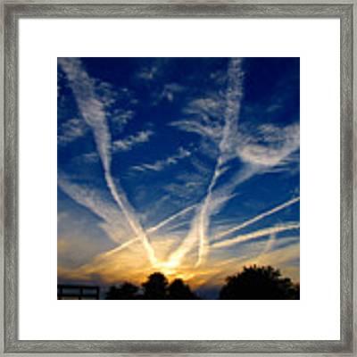Farm Evening Skies Framed Print by Rick Morgan
