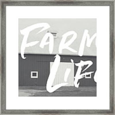 Farm Life Barn- Art By Linda Woods Framed Print by Linda Woods