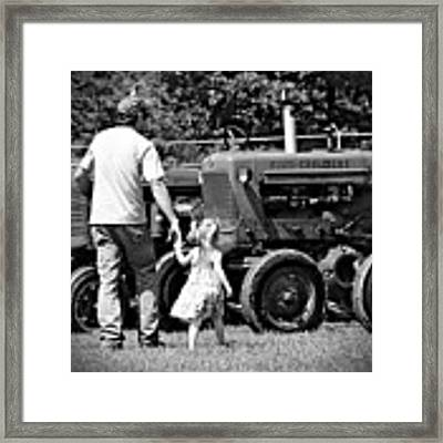 Father/daughter Day Framed Print by Rick Morgan