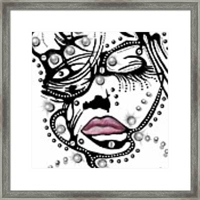 Female Abstract Face Framed Print by Darren Cannell