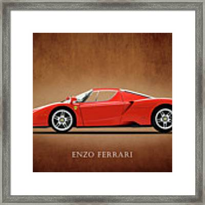 Ferrari Enzo Framed Print by Mark Rogan