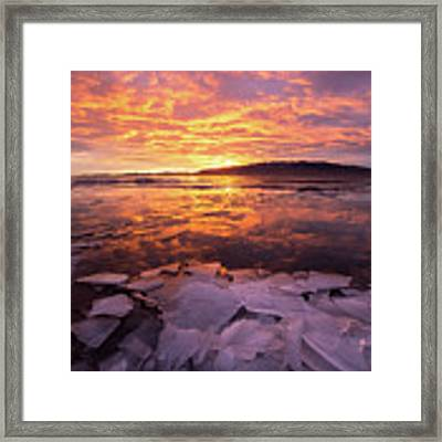 Fire And Ice Framed Print by Wesley Aston