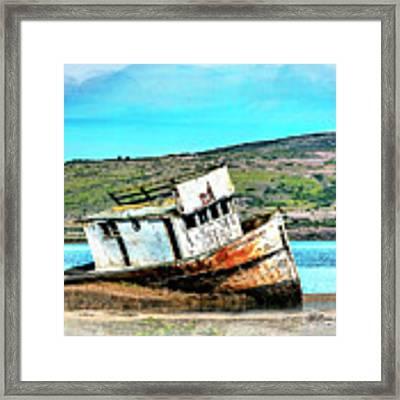Fishing Boat Point Reyes Framed Print by William Havle