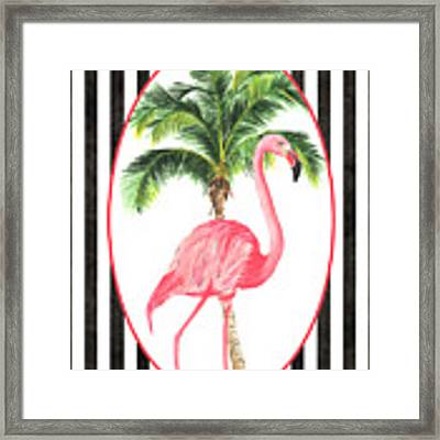 Flamingo Amore 7 Framed Print by Debbie DeWitt