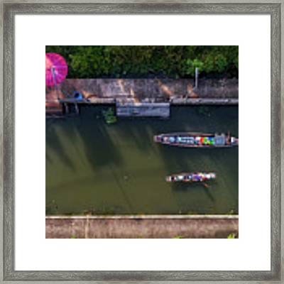 Floating Market Aerial View Framed Print by Pradeep Raja PRINTS