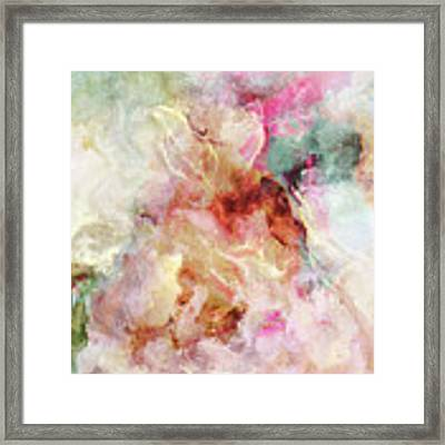 Floral Wings - Abstract Art Framed Print by Jaison Cianelli