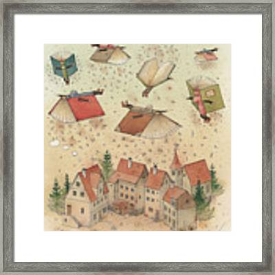 Flying Books Framed Print