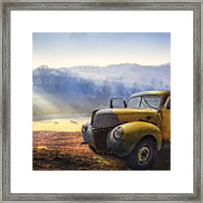 Ford In The Fog Framed Print