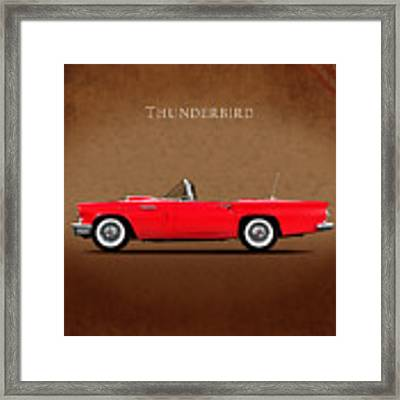 Ford Thunderbird 1957 Framed Print
