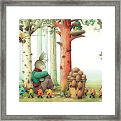 Forest Eggs Framed Print