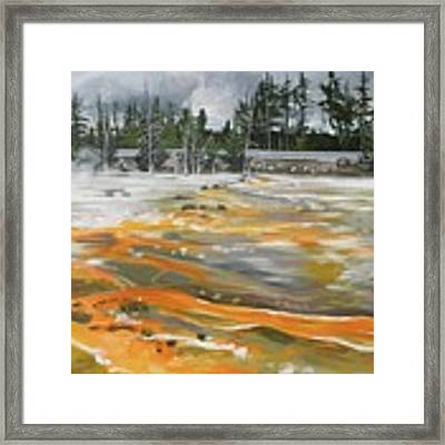 Fountain Paint Pots, Wyoming Framed Print by Outre Art Natalie Eisen