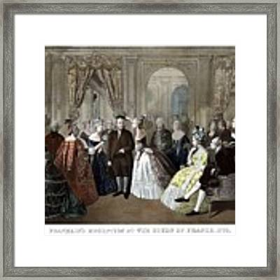Franklin's Reception At The Court Of France Framed Print