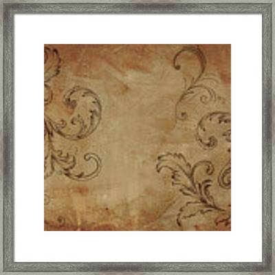 French Scrolls Framed Print by Jocelyn Friis