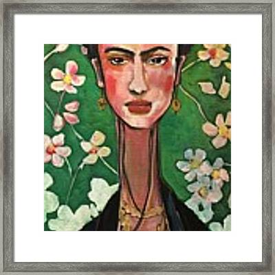 Frida You Are My Vogue Framed Print by Laurie Maves ART