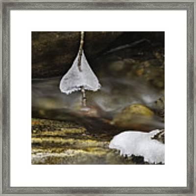 Frozen Ice Bells Framed Print by Ken Barrett