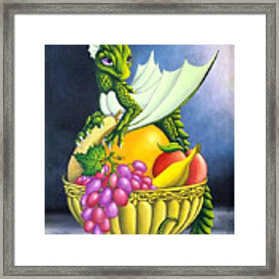Fruit Dragon Framed Print by Mary Hoy