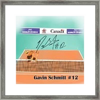 Gavin Schmitt Framed Print by Darren Cannell