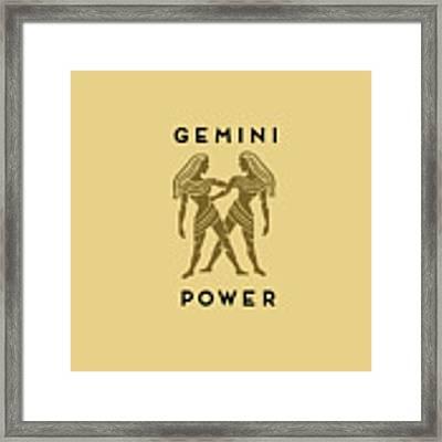 Gemini Power Framed Print by Judy Hall-Folde