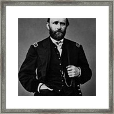 General Grant During The Civil War Framed Print by War Is Hell Store