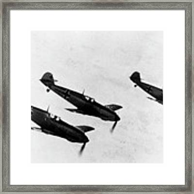 German Messerschmitt Fighter Planes. For Licensing Requests Visit Granger.com Framed Print by Granger