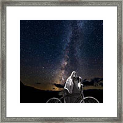Ghost Rider Under The Milky Way. Framed Print by James Sage