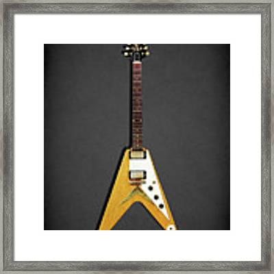 Gibson Flying V Framed Print by Mark Rogan