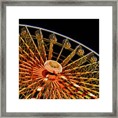 Glowing Ferris Wheel - Fractals Framed Print by Ericamaxine Price