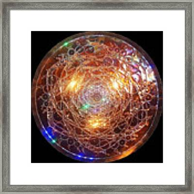 Golden Spiral Copper Lightmandala Framed Print by Robert Thalmeier
