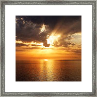 Golden Sun Framed Print by Julian Perry
