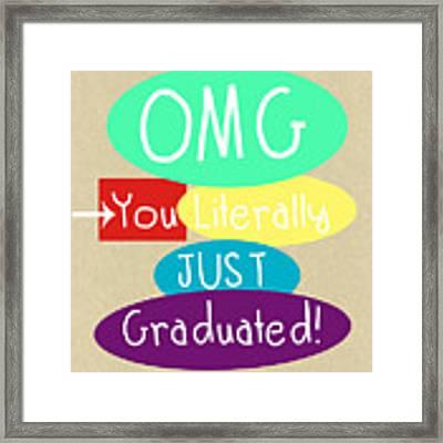 Graduation Card Framed Print by Linda Woods