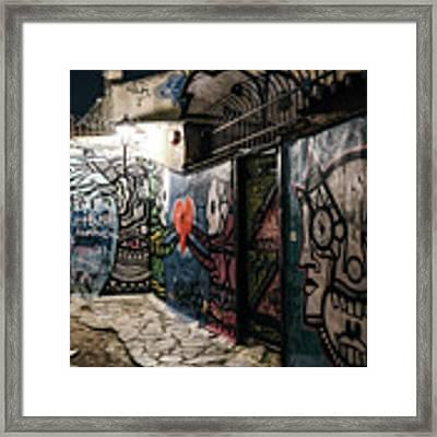 Graffiti In Plaka I Framed Print by James Billings
