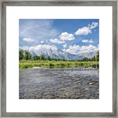 Grand Tetons On A Sunny Day Framed Print by Margaret Pitcher