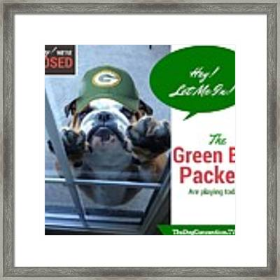 Green Bay Packers Framed Print by Kathy Tarochione