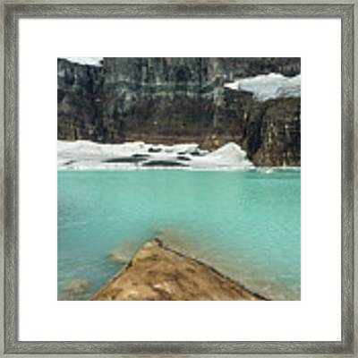 Grinnell And Salamander Glaciers Framed Print by Jemmy Archer