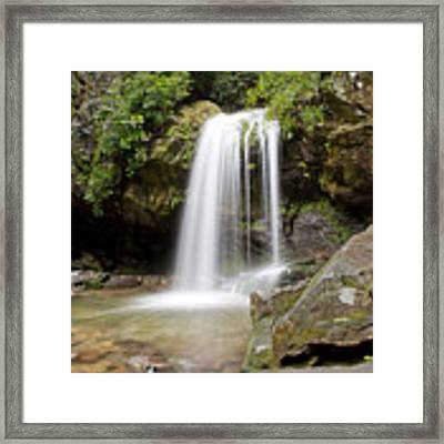 Grotto Falls Great Smoky Mountains Framed Print by Jemmy Archer