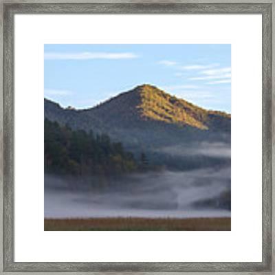 Ground Fog In Cataloochee Valley - October 12 2016 Framed Print by D K Wall