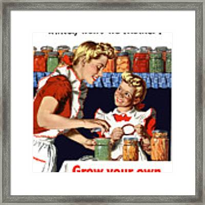 Grow Your Own Can Your Own  Framed Print