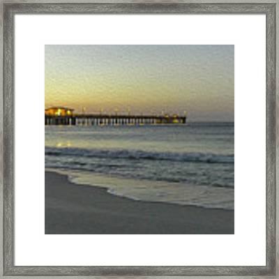 Gulf Shores Alabama Fishing Pier Digital Painting A82518 Framed Print by Mas Art Studio