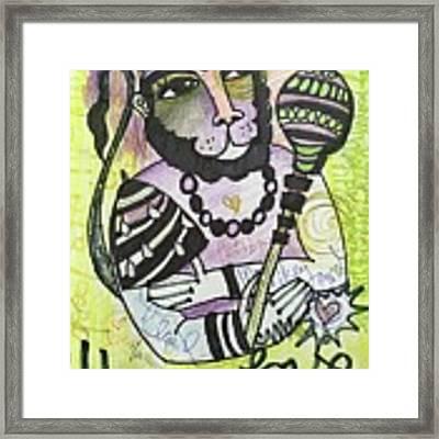 Hanuman Love Framed Print by Laurie Maves ART