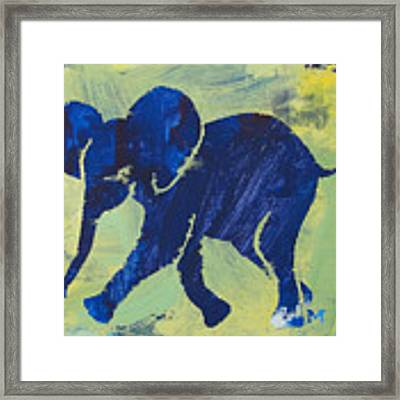 Happy Elephant Framed Print by Candace Shrope