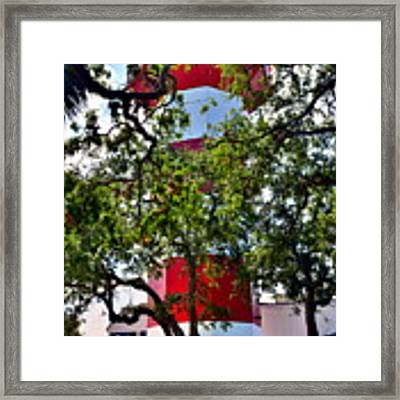 Harbour Town Lighthouse Framed Print by Lisa Wooten